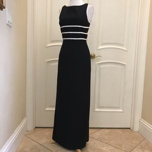 Papell Boutique Evening black / ivory gown